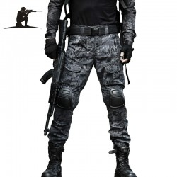 Camouflage - tactical military pants with knee pads