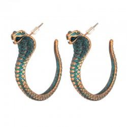 Vintage earrings with cobra