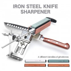 Professional kitchen knife sharpener - fixed angle tool - incl 4 wet stones