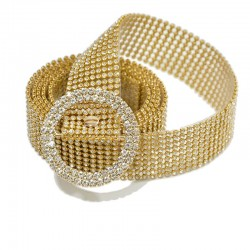 Fashion Thin Shiny Rhinestone Belt Transparent Crystal Belts For Women s Casual Metal Buckle Pvc Le