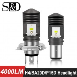 4000lm BA20D - P15D - Led - motorcycle / car headlight - bulb