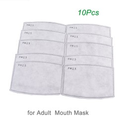 PM25 - active carbon mouth mask filter - anti dust - 10 pieces