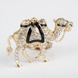 Kristall - Gold kamel Schlüsselbund