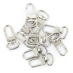 10 pieces - swivel carabiner - hook - key ring 18 * 33 mm