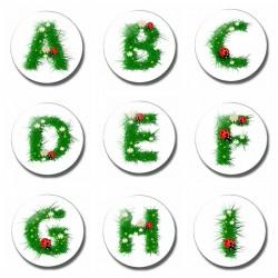 26 letter 30 mm fridge magnet - child letter magnet - cartoon kids gifts glass magnetic refrigerator stickers