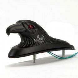 motorcycle black eagle head fender ornament - red lighted eye custom bike