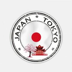 Round Japan Tokyo car - helmet sticker 10.9 cm * 10.9 cm