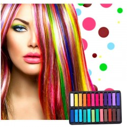 Temporary hair color dye - hair crayon - 24 colours