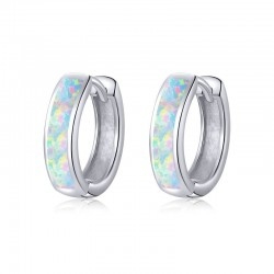 925 sterling silver earrings with opal