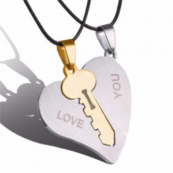 I Love You Couple Necklaces - 2pcs