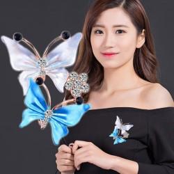 Crystal butterfly - luxury brooch