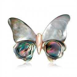 Butterfly - shell brooch