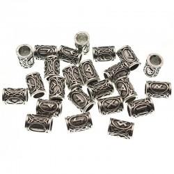 Viking Runes Metal Spacer Beads - 24pcs/Set