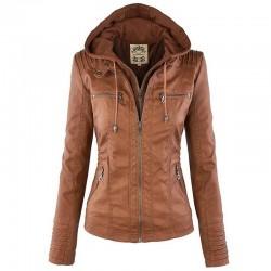 Winter faux leather jacket - women - s - 7xl