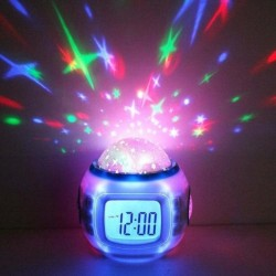 Digital alarm clock - with stars projector & music