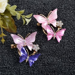 Double butterflies - crystal elegant brooch