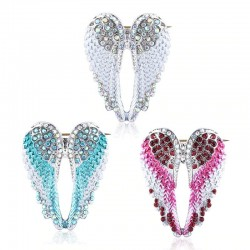 Crystal angel wings - brooch