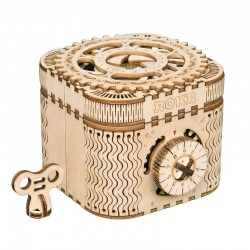 Creative DIY - 3D treasure box - wooden puzzle - assembly kit - 123 pieces