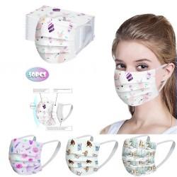 50 Stück - antibakterielle Einweg-Gesichtsmaske - Mundmaske - 3-lagig - Unisex