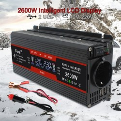 Inverter dc to ac - LCD display power - EU/ universal outlet - cigarette