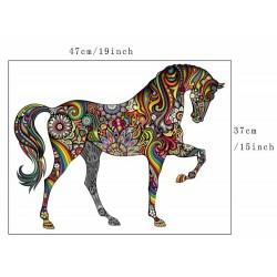 Colourful horse - wall sticker - vinyl mural art