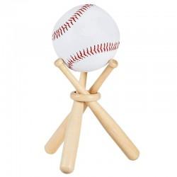 Baseball / golf tennis ball display stand - wooden holder