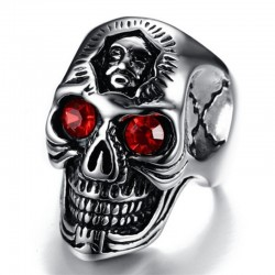 Gothic Skull Ring - Stainless Steel