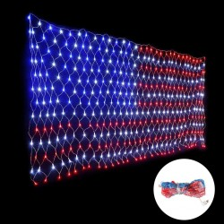 American Flag - String Lights - Outdoor - Waterproof