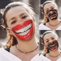Funny printed face mask - anti-pollution mouth cover - cotton