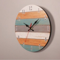 Retro Wall Clock - Vintage - Wooden Roman Craft