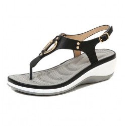 Fashion sandals with metal decoration - Bohemian style