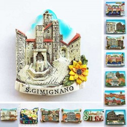 Italy - Rome - Sicily - tourism fridge magnets