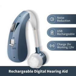Rechargeable - Mini Digital Hearing Aid - Wireless Ear Aids