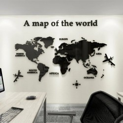 European Version - World Map - 3D Wall Sticker