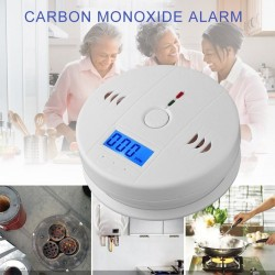Carbon monoxide / poisoning / smoke / gas sensor - detector - alarm - wireless - with LCD
