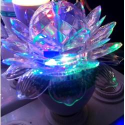 3W - E27 - crystal Led bulb - lotus flower