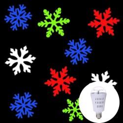 AC110-240V E27 4W - LED - Schneeflockenmuster - drehbare Glühbirne - Projektor - Lampe - RGB