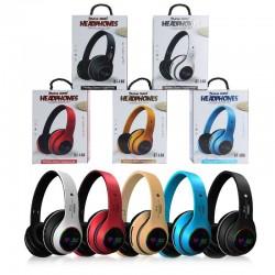 Bluetooth headset - noise canceling - wireless headphones - LED