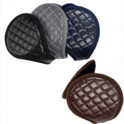 Leather & plush - earmuffs - foldable