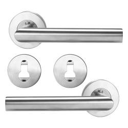 Stainless steel door handles - 2 pieces set