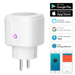 16A - WiFi - Smart plug - socket with power energy monitor - Alexa / Google assistant