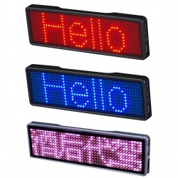 Digital LED badge - insignia - programmable - scrolling message board - Bluetooth