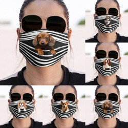 Protective face / mouth mask - reusable - dogs print