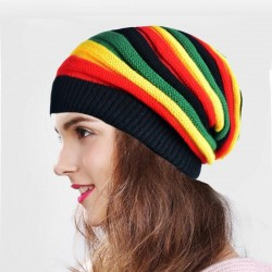 Knitted colorful beanie - reggae style