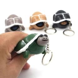 Plastic turtle - keychain