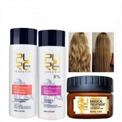 Straightening & repair damaged hair - Brazilian keratin treatment - shampoo - conditioner - mask - 3 pieces