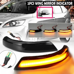 Car side mirror turn signal - indicator - LED - for Ford Focus MK2 MK3 08-16 Mondeo MK4 - 2 pieces