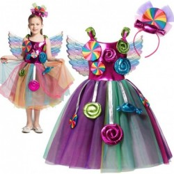 Candy dress for girls - costume - with headband / wings