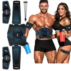 Abdominal / arms muscle training belt - EMS ABS trainer - home fitness