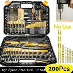 HSS twist drill bit set - 1mm / 1.5mm / 2mm / 2.5mm / 3mm - 100 - 200 pieces